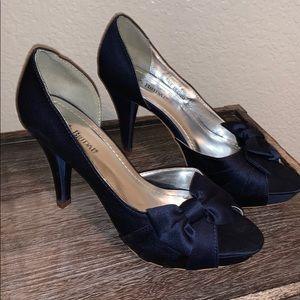David's Bridal Navy Blue Heels. Worn once